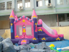 princess bounce house, bouncy castle