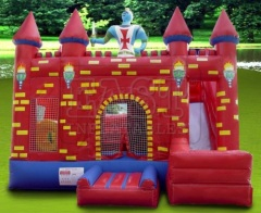 Super man inflatable jumping castle, bounce house
