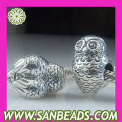 Sterling silver Owl charms beads