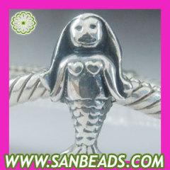 925 sterling silver mermaid charm beads