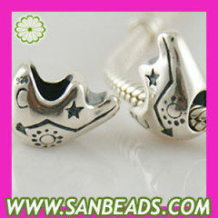 925 sterling silver Sun Moon Stars charms beads