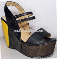 ankle straped wedge sandal