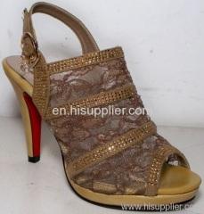 crystal pump sandal