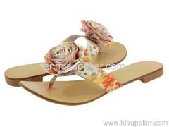 flowered thong slipper