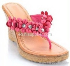 floral thong wedge sandal