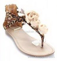rose thong sandal