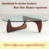 Isamu Noguchi coffee table,triangular coffee table,glass coffee table