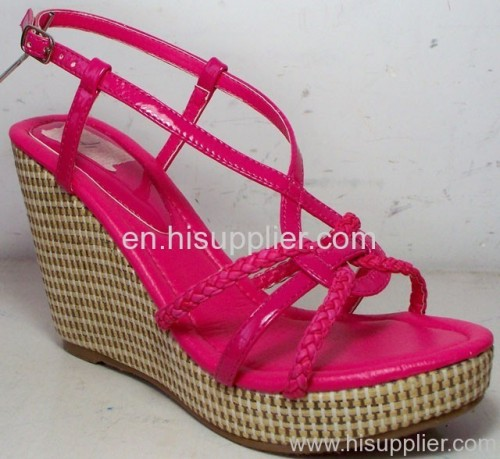 strap knoted wedge sandals