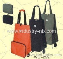Pure Color Wheeled Bag