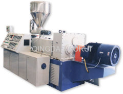 PVC twin pipe extrusion production machine