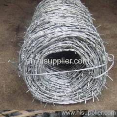 Galvanized barbed wire coil