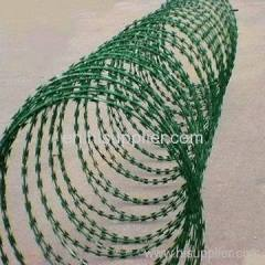 PVC barbed wire fence