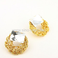 beautiful gold plated earrings