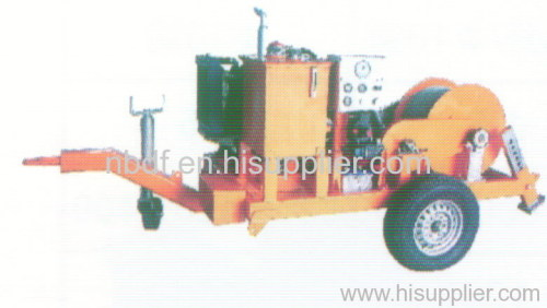 Hydraulic Cable Pulling Machine : Cable installation equipment hydraulic pulling winch from