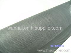 twill weave herringbone style black wire cloth
