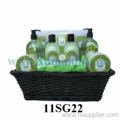 Basket bath set