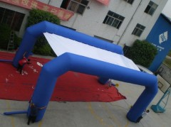 Inflatable tent with two arches