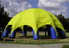 Eight leg adverting inflatable tent