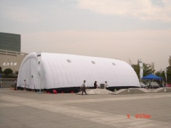 Multifunction inflatable tent