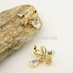 golden drop shinning earrings