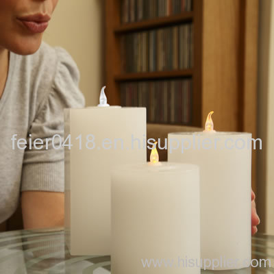 electronic blow on-off candle light