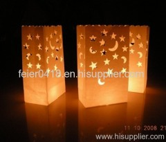 led paper bag candle