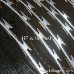 Concertina razor barbed wire mesh