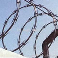 Protective galvanized razor barbed wire