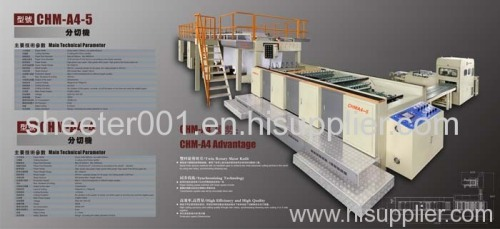 A4 A3 F4 cut size copy paper sheeter with packing machine