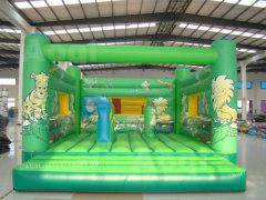 Blue tiger bounce house, bouncy castle