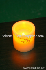 sparkling decrative candle