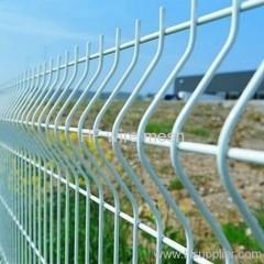 white PVC coated fence