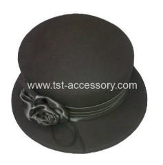 Rose detail hat