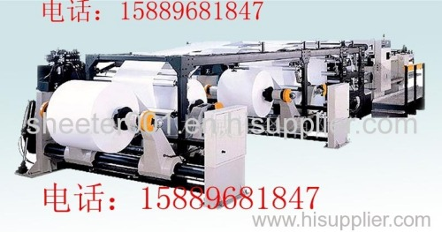 Roll paper and board sheeting machine
