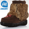 Winter fashion boots with anti-skidding