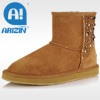 Women fashion snow boot with sheepskin material