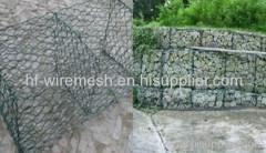 PVC coated gabion basketing