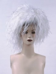 white Feather Hat