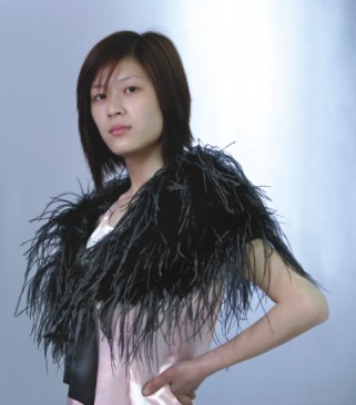 ostrich feather scarf