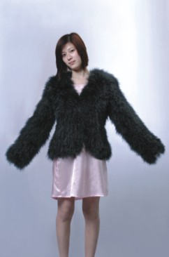feather coats