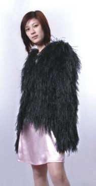 100% turkey ladies feather coat