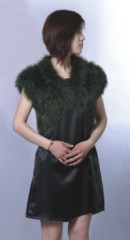 fashion ladies feather coat