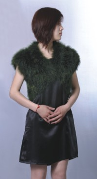 fashion ladies feather coat