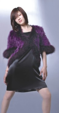 womens feather coats