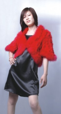 ladies feather coat