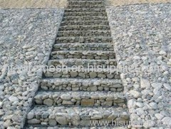Welded gabion boxes for retaining wall