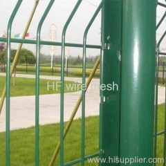 square PVC welded wire mesh fence