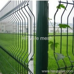 green square wire mesh fence