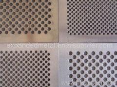 Hole punching metal mesh