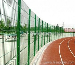 square welded playground fence